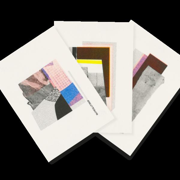 Collagen | 3 Risograph Postcards