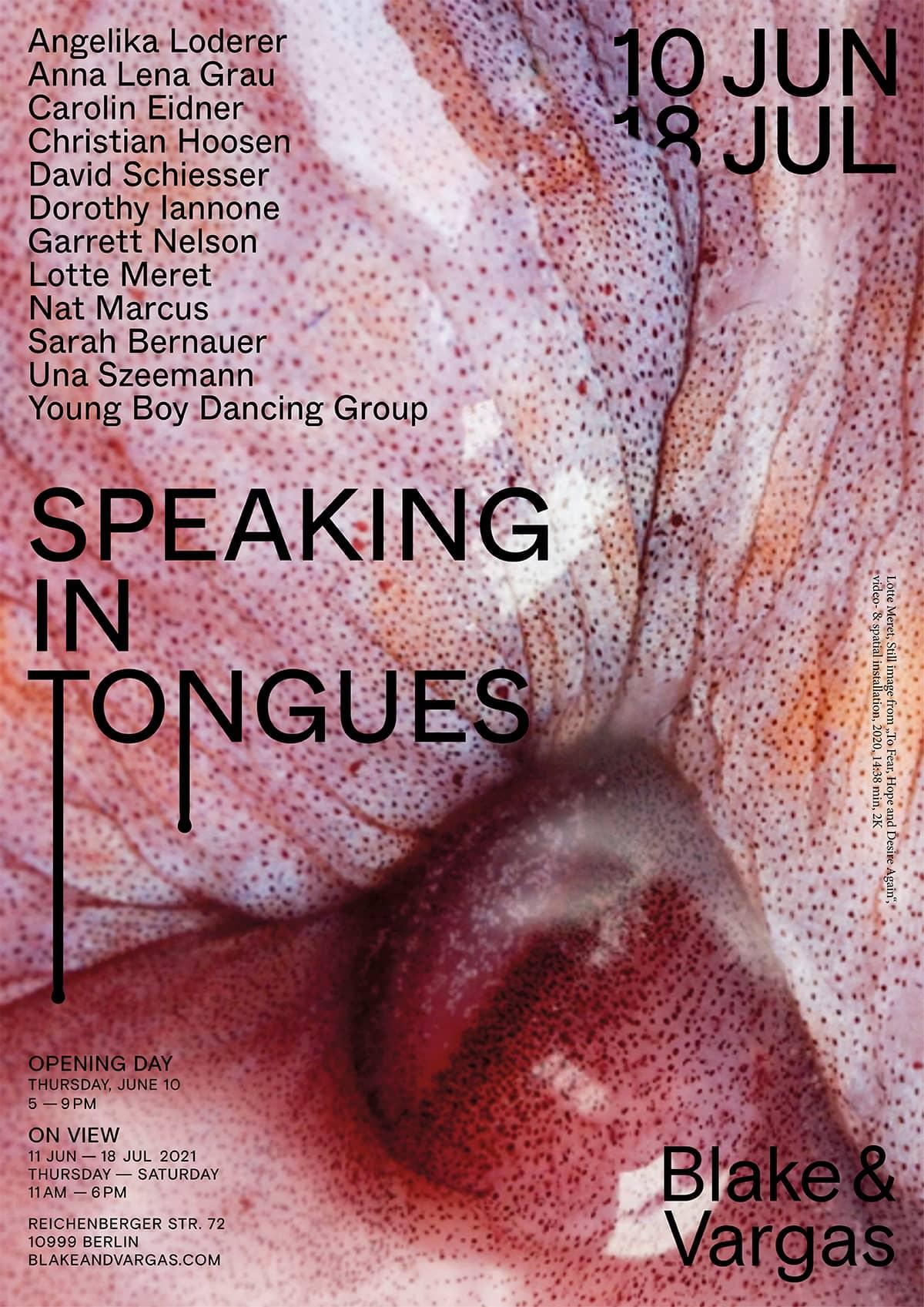 Speaking in Tongues at Blake and Vargas Studio Matthias Last 4