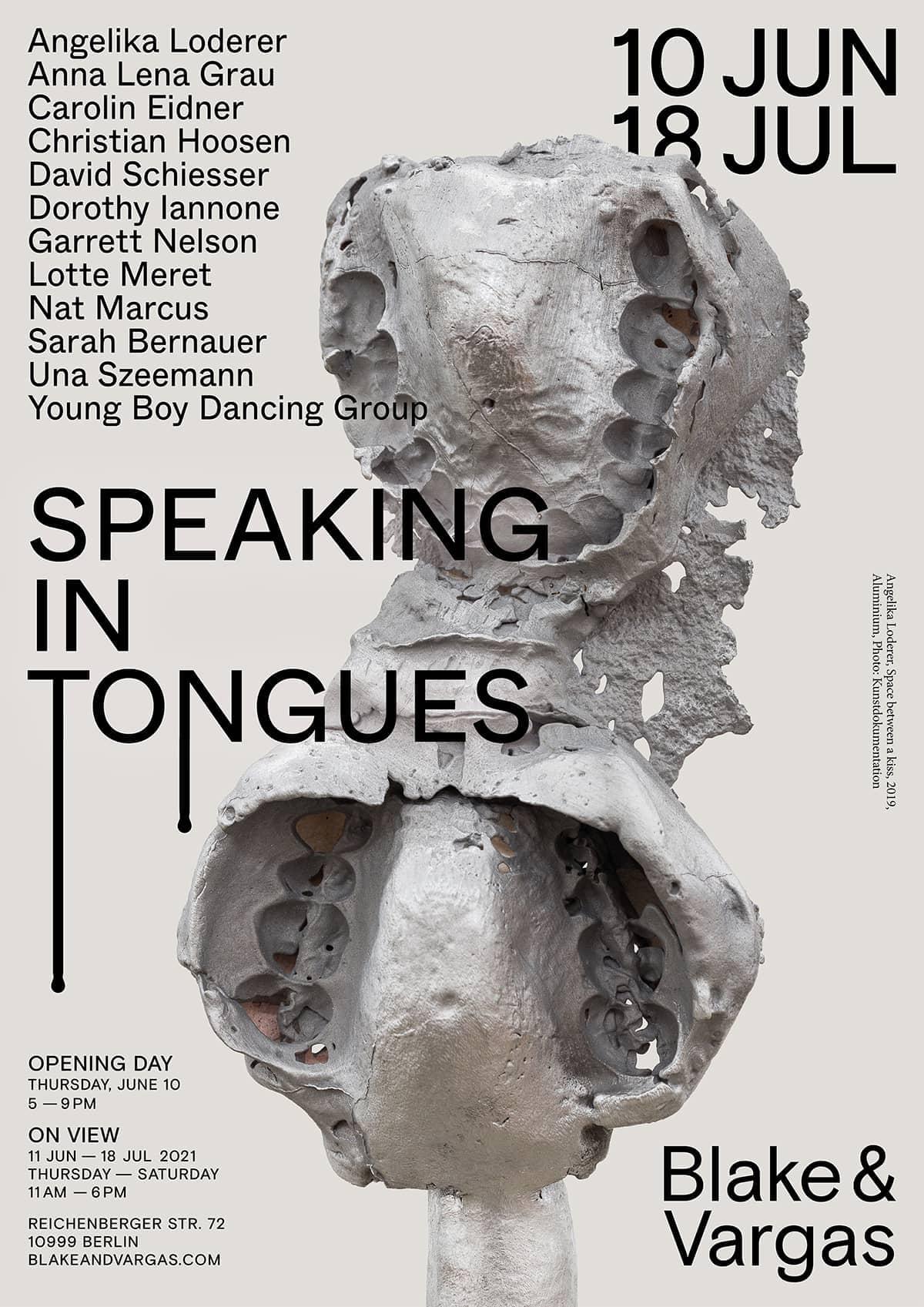 Speaking in Tongues at Blake and Vargas Studio Matthias Last 7